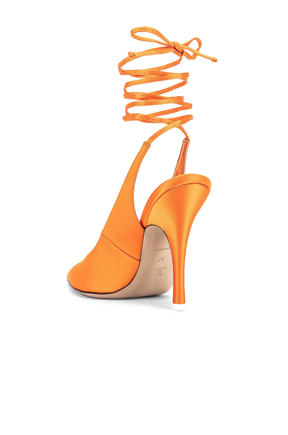 Image 3 of ATTICO High Heel Slingback in Orange