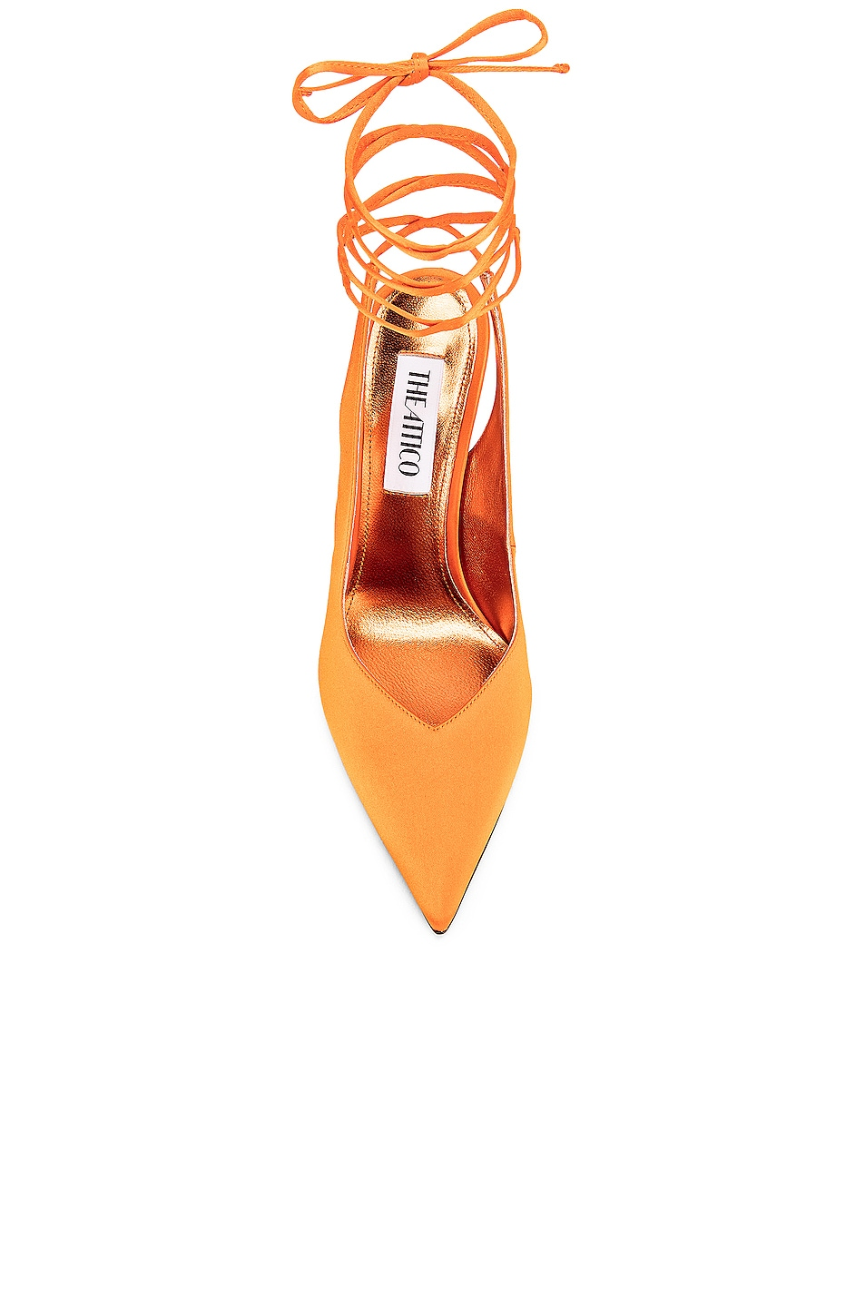 Image 4 of ATTICO High Heel Slingback in Orange