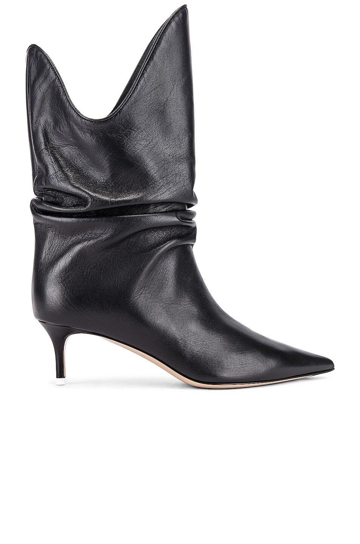 Image 1 of ATTICO Kitten Heel Medium Boot in Black