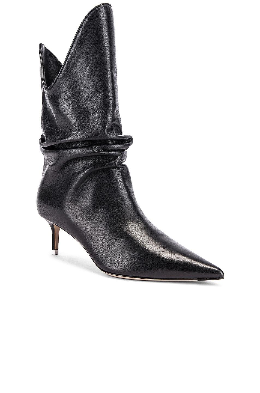 Image 2 of ATTICO Kitten Heel Medium Boot in Black