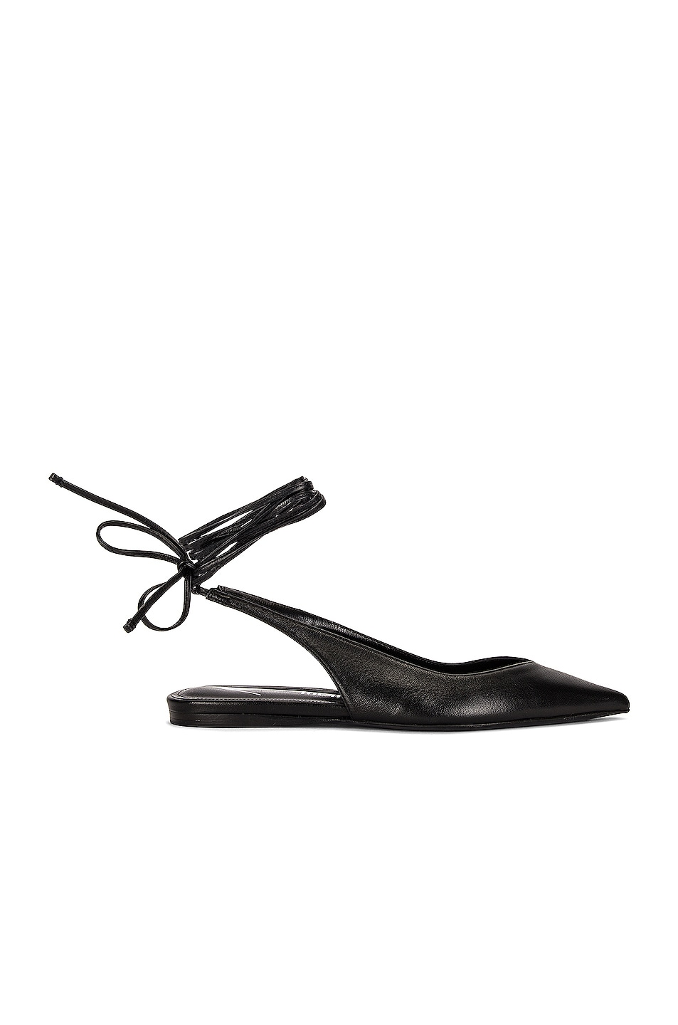 Image 1 of THE ATTICO Lace Up Flat in Black