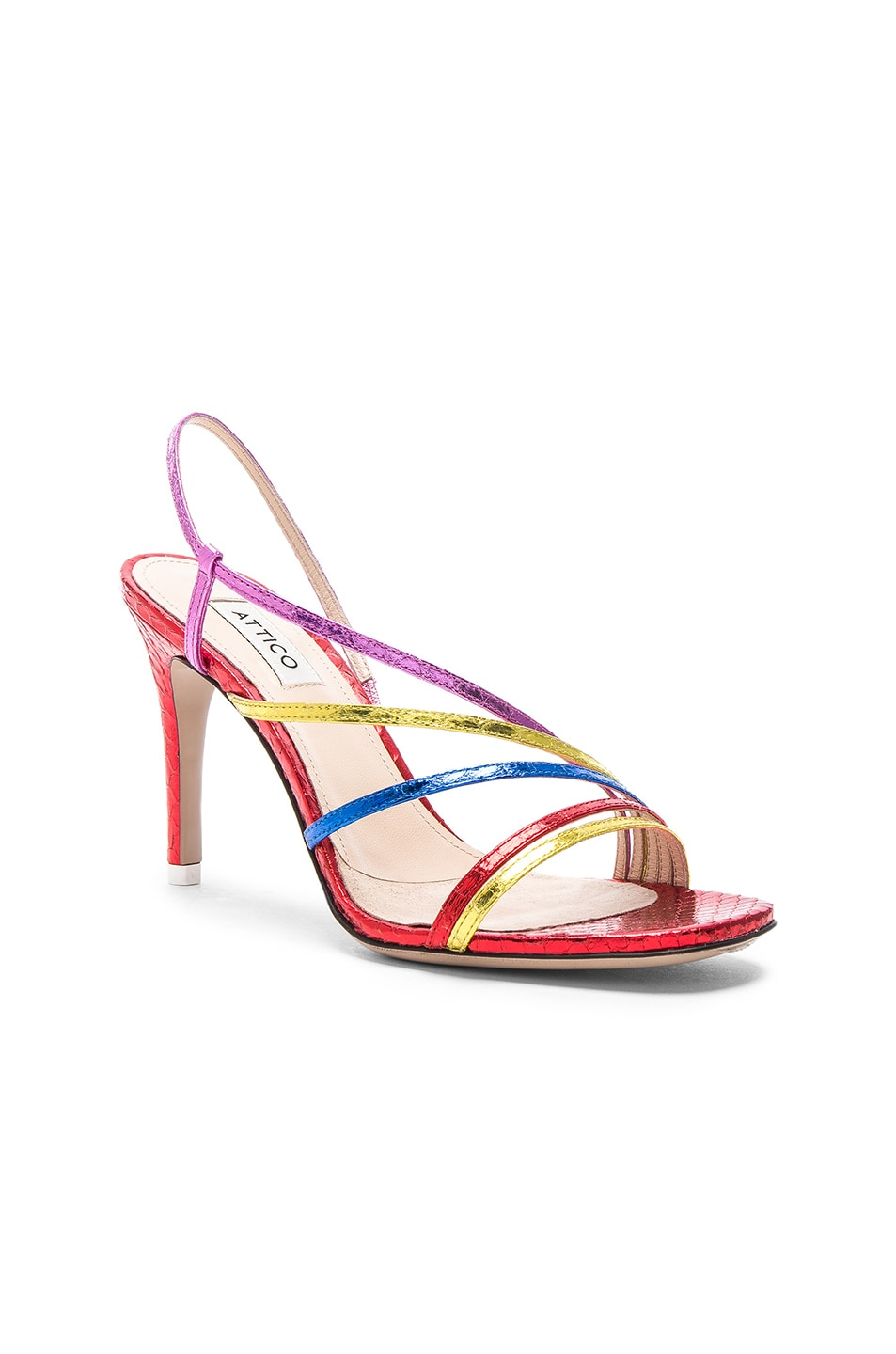 Image 2 of ATTICO Baby Whips Snake Sandal in Multicolor