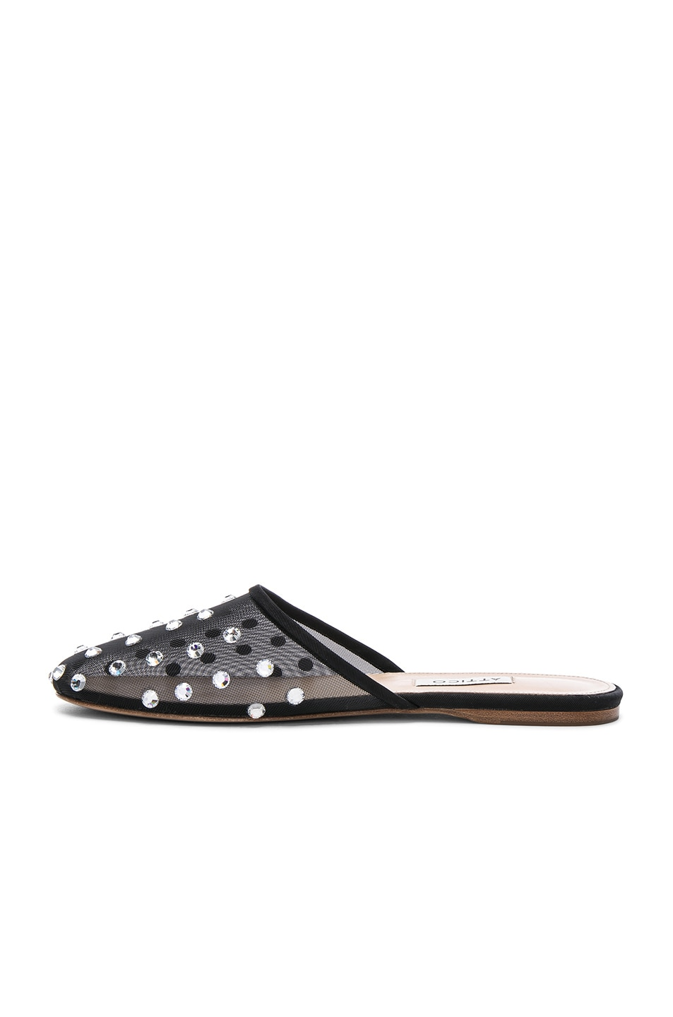 ATTICO Embellished Mesh Gina Slippers in