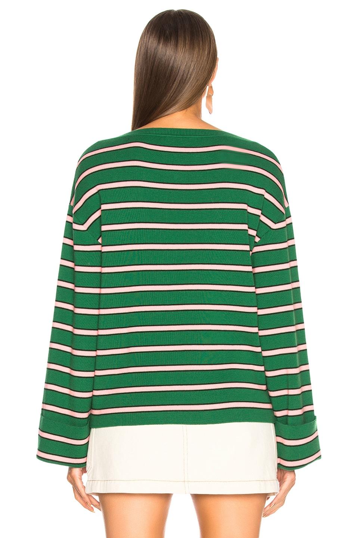 17c3e17c3170 ALEXACHUNG Oversize Stripe Rib Jumper in Green