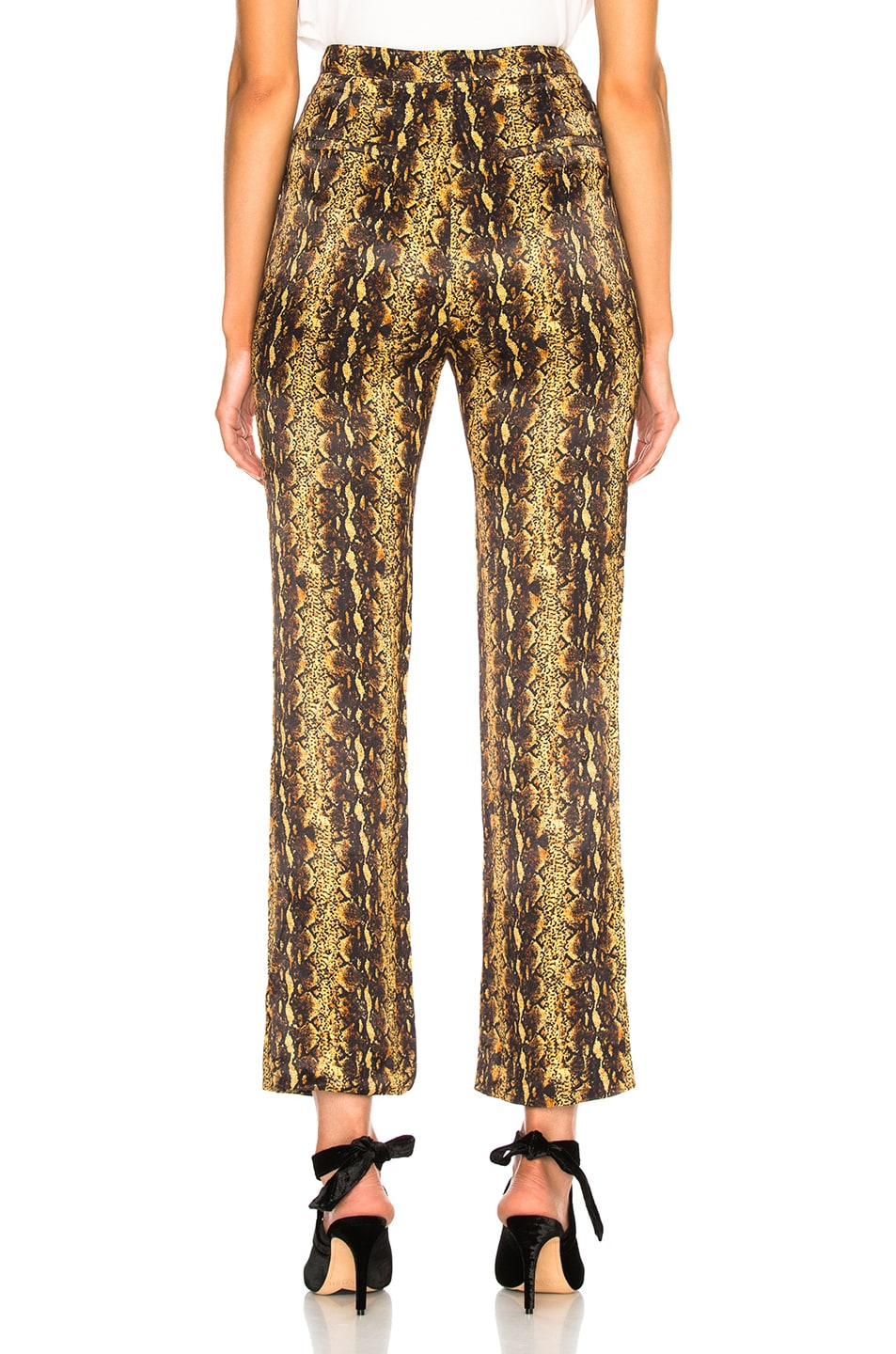 Image 3 of ALEXACHUNG Tailored Crop Flare Trouser in Gold