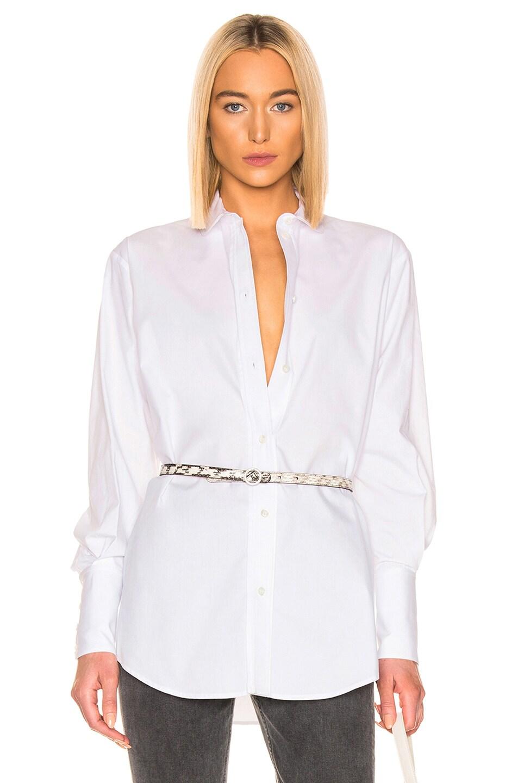 Image 1 of ALEXACHUNG Classic Shirt in White