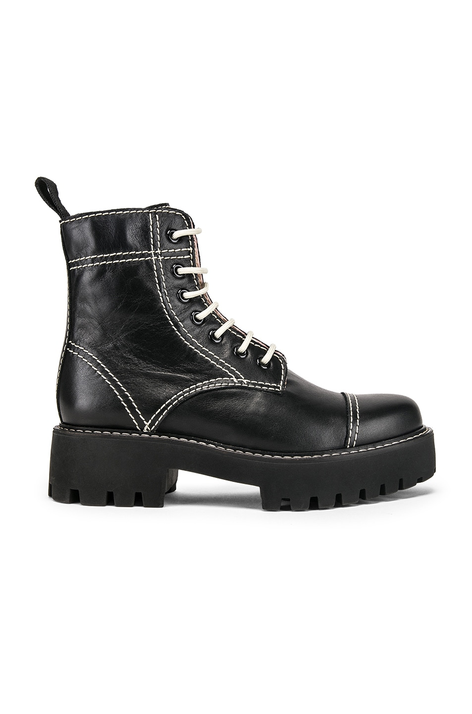 Image 1 of ALEXACHUNG Chopped Military Boot in Black