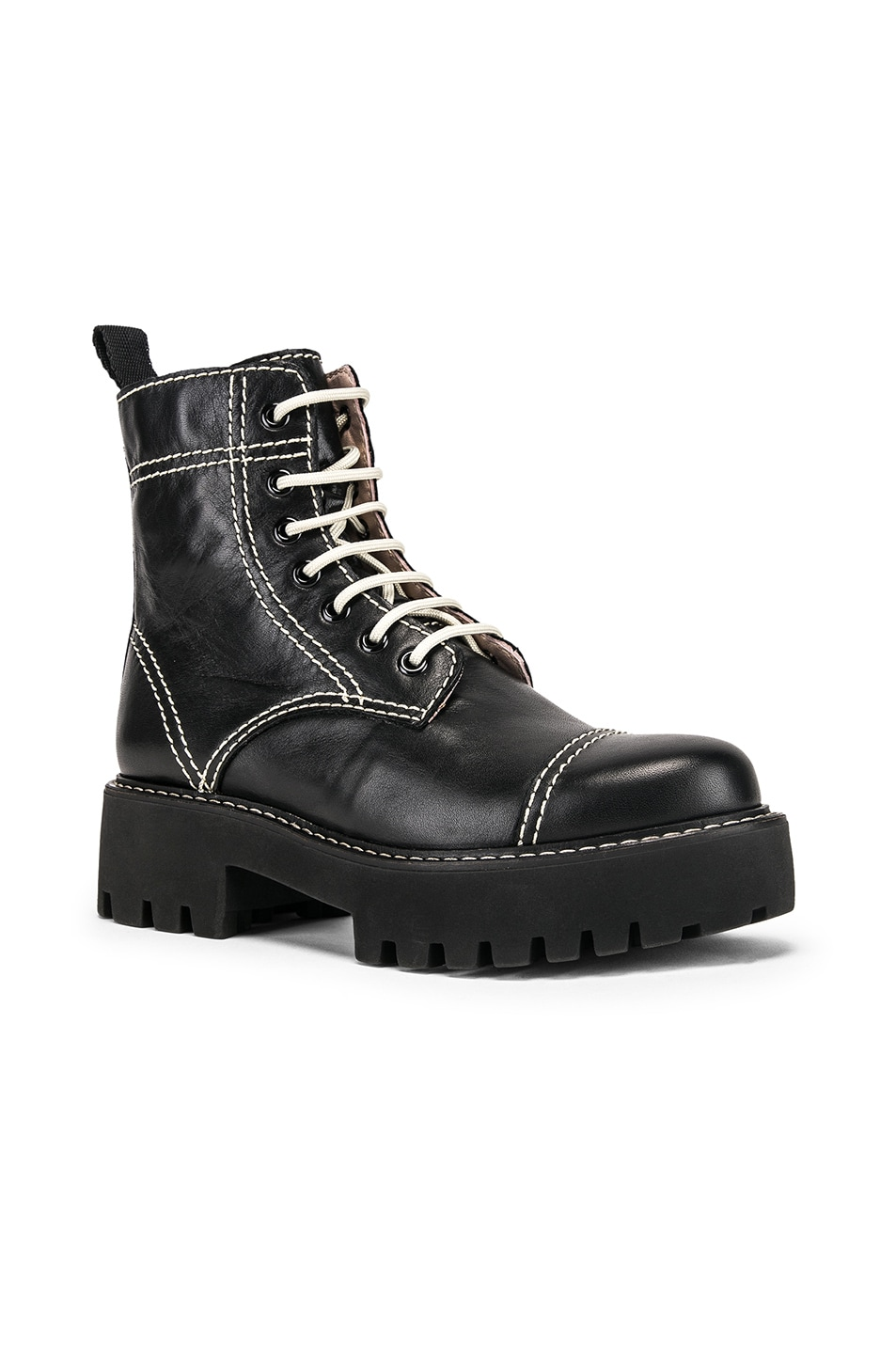 Image 2 of ALEXACHUNG Chopped Military Boot in Black