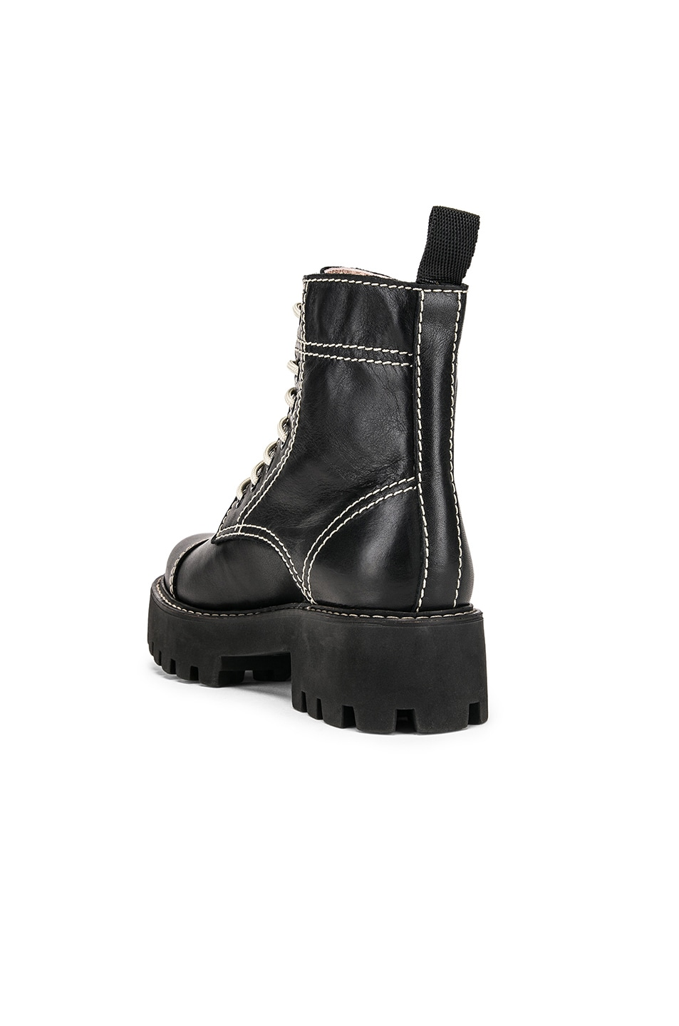 Image 3 of ALEXACHUNG Chopped Military Boot in Black