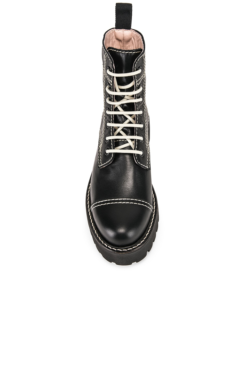Image 4 of ALEXACHUNG Chopped Military Boot in Black