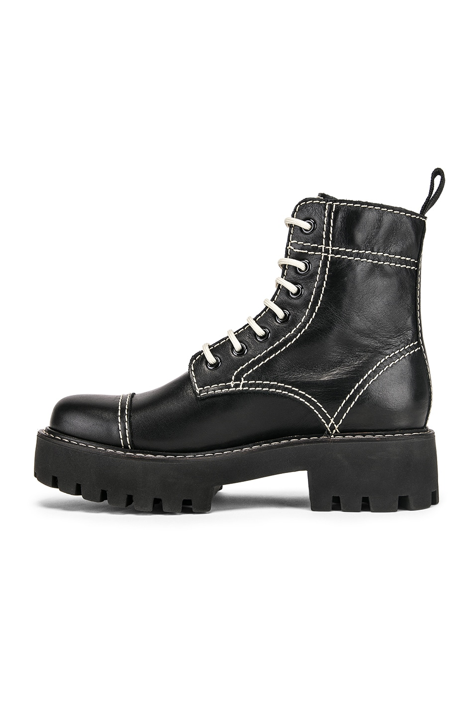 Image 5 of ALEXACHUNG Chopped Military Boot in Black