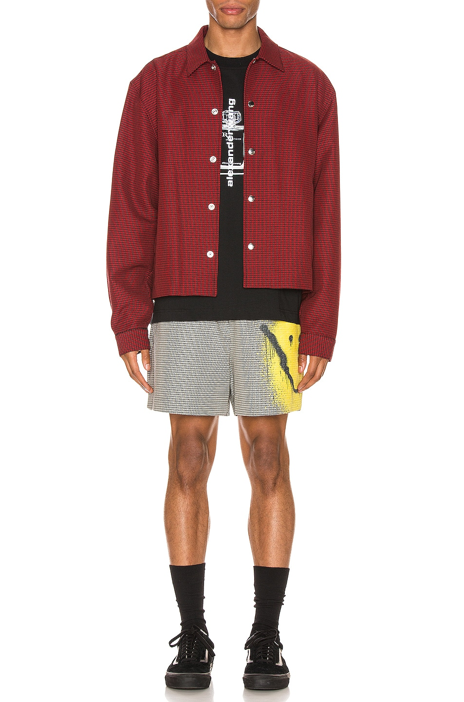 Image 6 of Alexander Wang Suiting Coaches Jacket in Red & Black