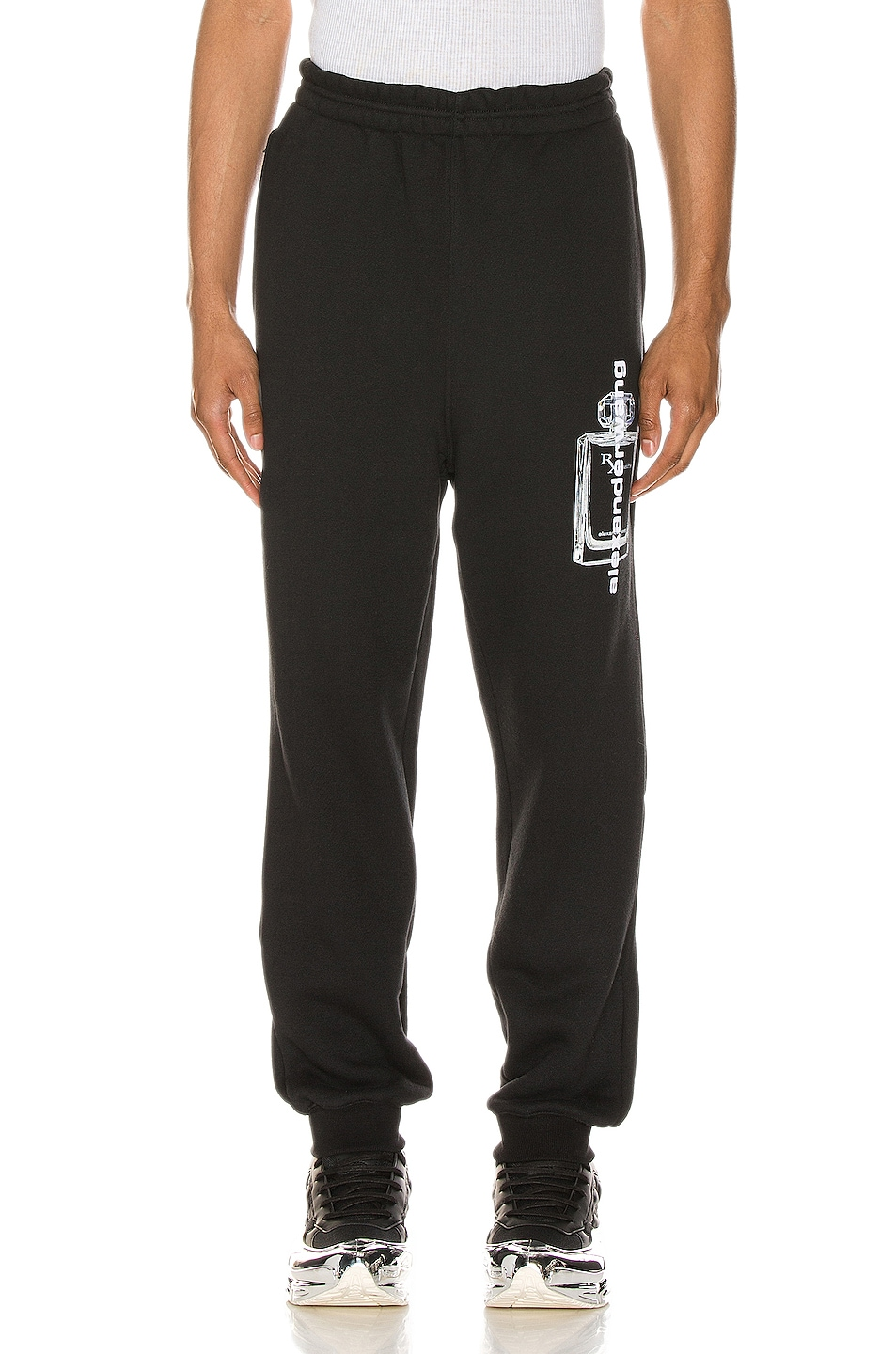 Image 2 of Alexander Wang Graphic Sweatpant in Black