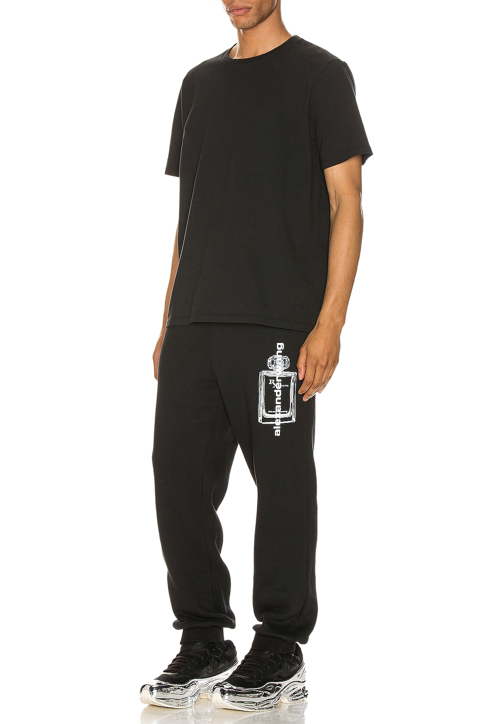 Image 5 of Alexander Wang Graphic Sweatpant in Black