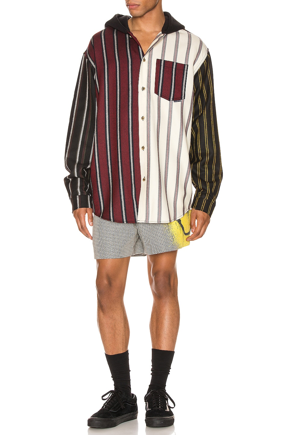 Image 5 of Alexander Wang Locharron Shirt w/ Hood in Multi Stripe