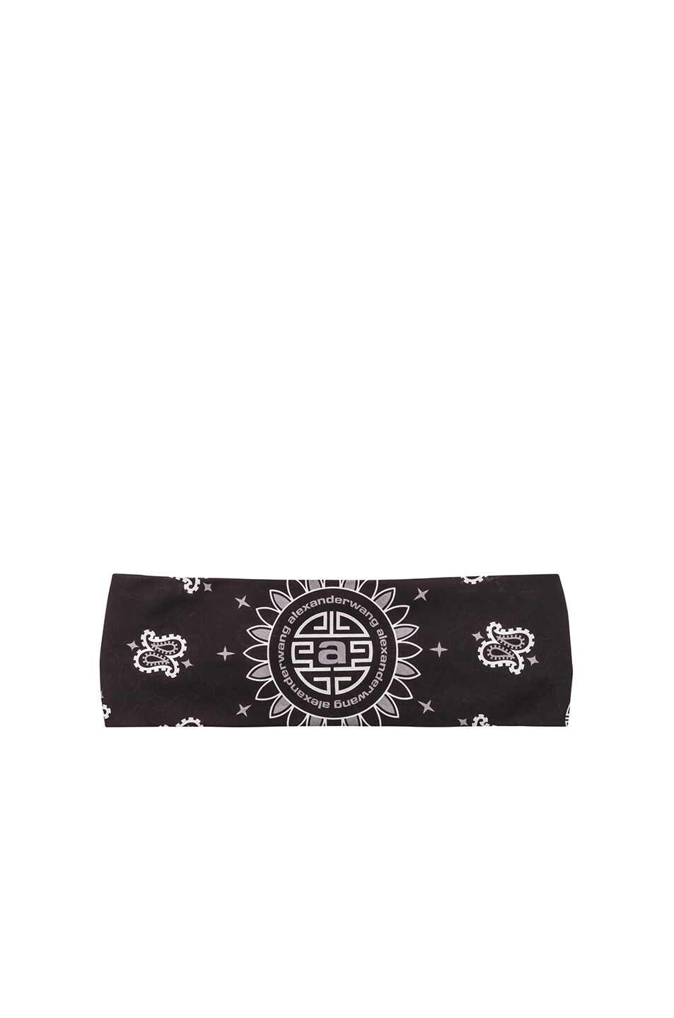 Image 1 of Alexander Wang Bandana Headband in Black