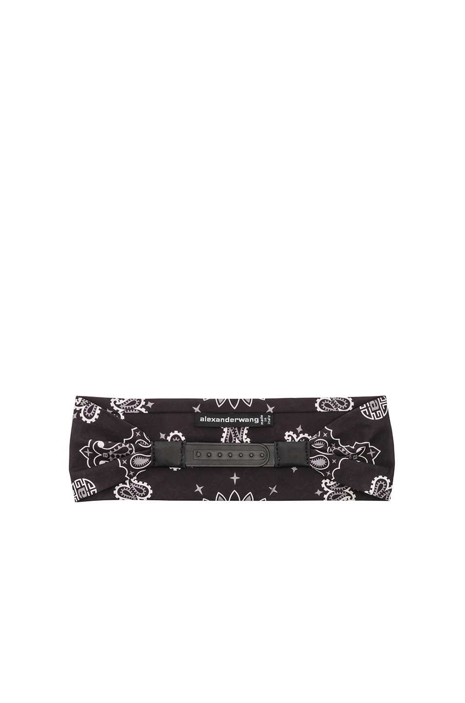 Image 2 of Alexander Wang Bandana Headband in Black