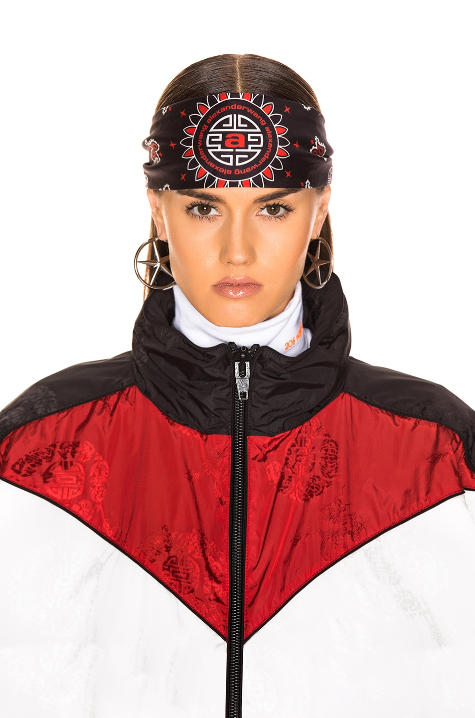 Image 3 of Alexander Wang Bandana Headband in Red