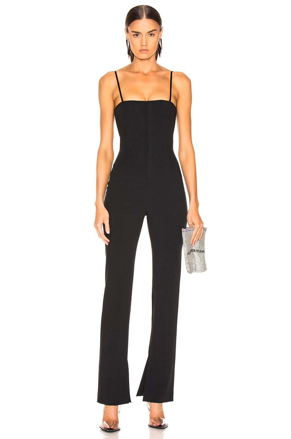 Image 1 of Alexander Wang Adjustable Straps Jumpsuit in Black