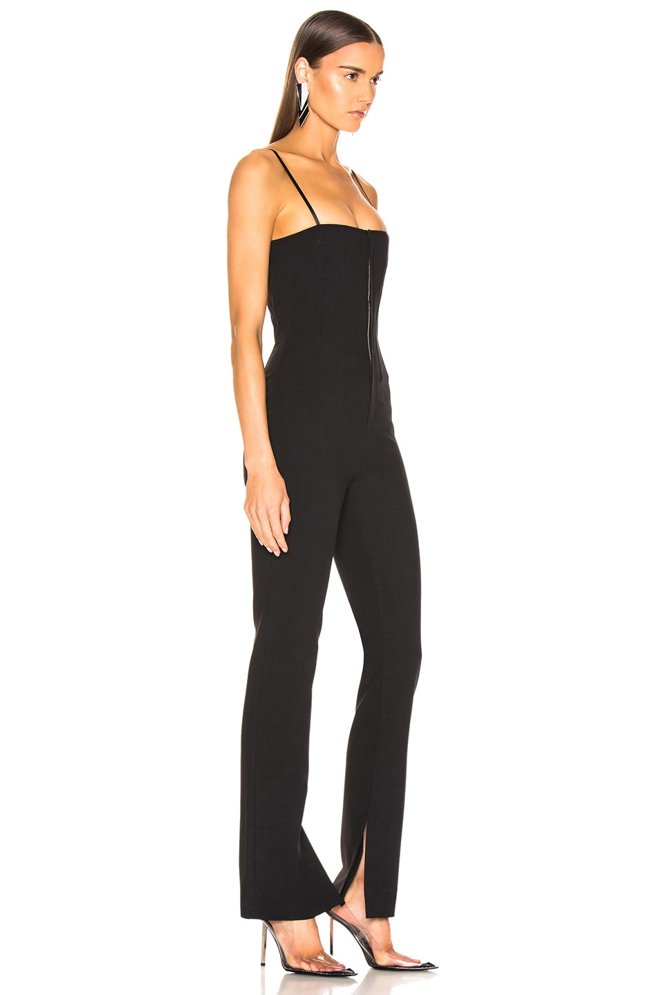 Image 2 of Alexander Wang Adjustable Straps Jumpsuit in Black