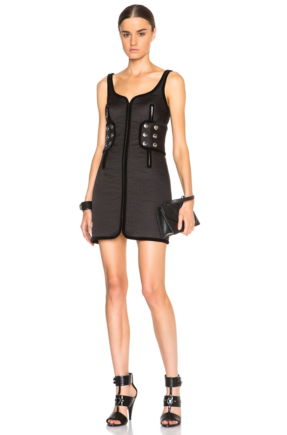 Image 1 of Alexander Wang Trapunto Tank Dress in Nocturnal