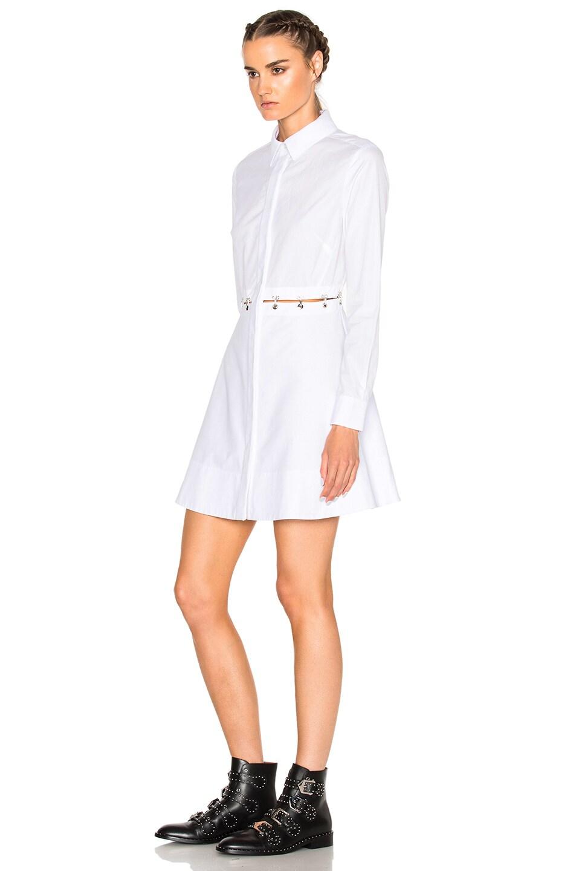 Image 2 of Alexander Wang Long Sleeve Shirt Dress in Frost