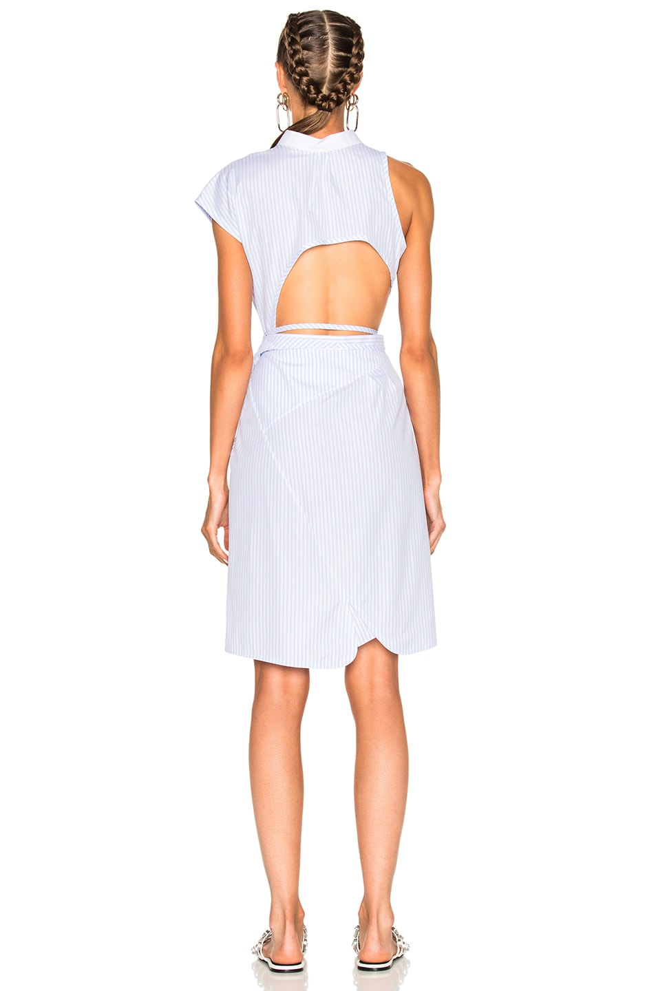 58213b1b00 Image 4 of Alexander Wang Asymmetric Deconstructed Shirt Wrap Dress in  Oxford Multi