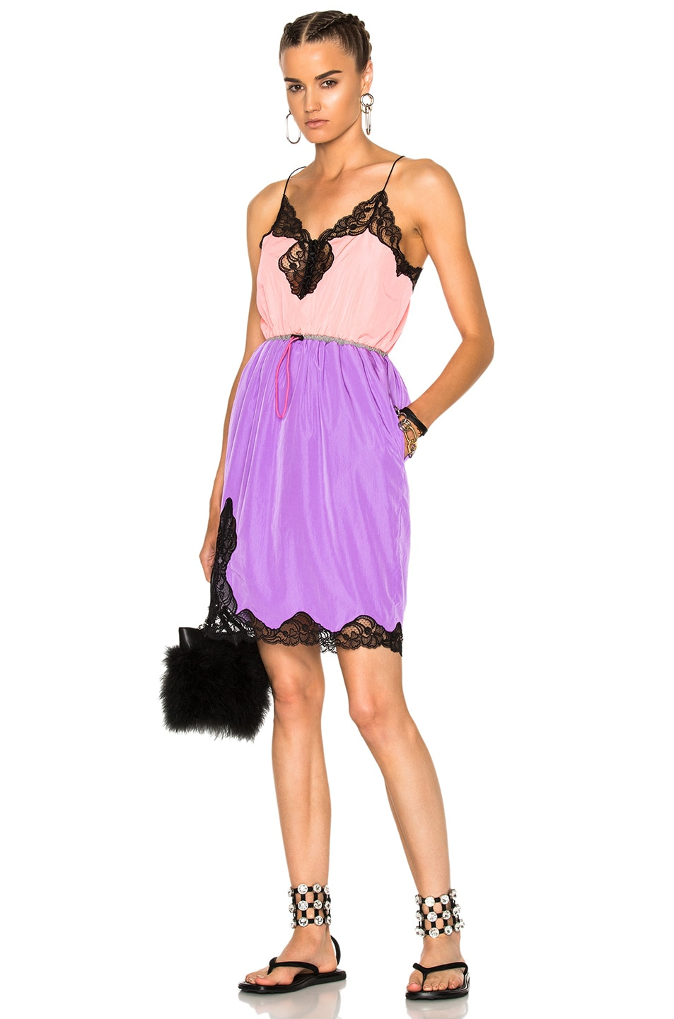 Image 1 of Alexander Wang V-Neck Slip Dress in Pink