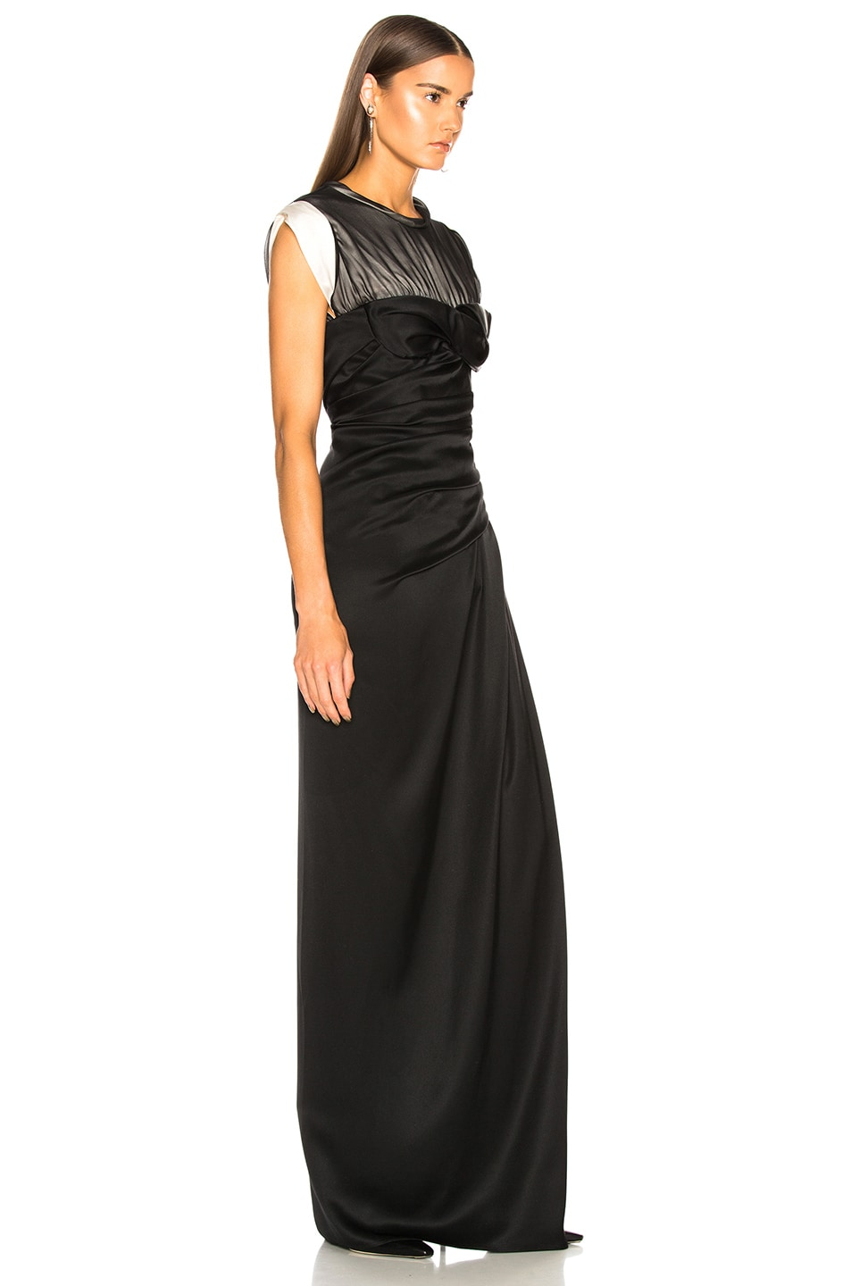 Image 2 of Alexander Wang Twisted Cup Evening Dress in Black