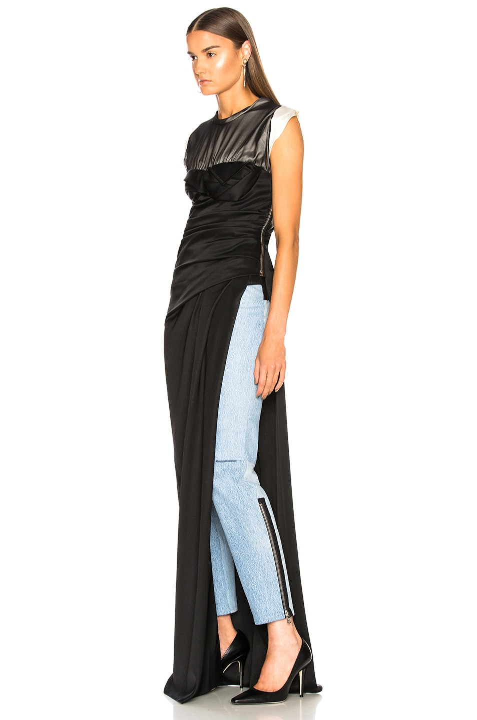 Image 3 of Alexander Wang Twisted Cup Evening Dress in Black