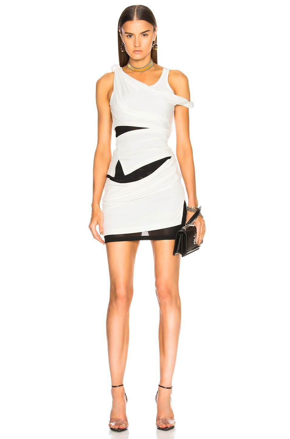 Image 1 of Alexander Wang Deconstructed Tank Dress in Ivory