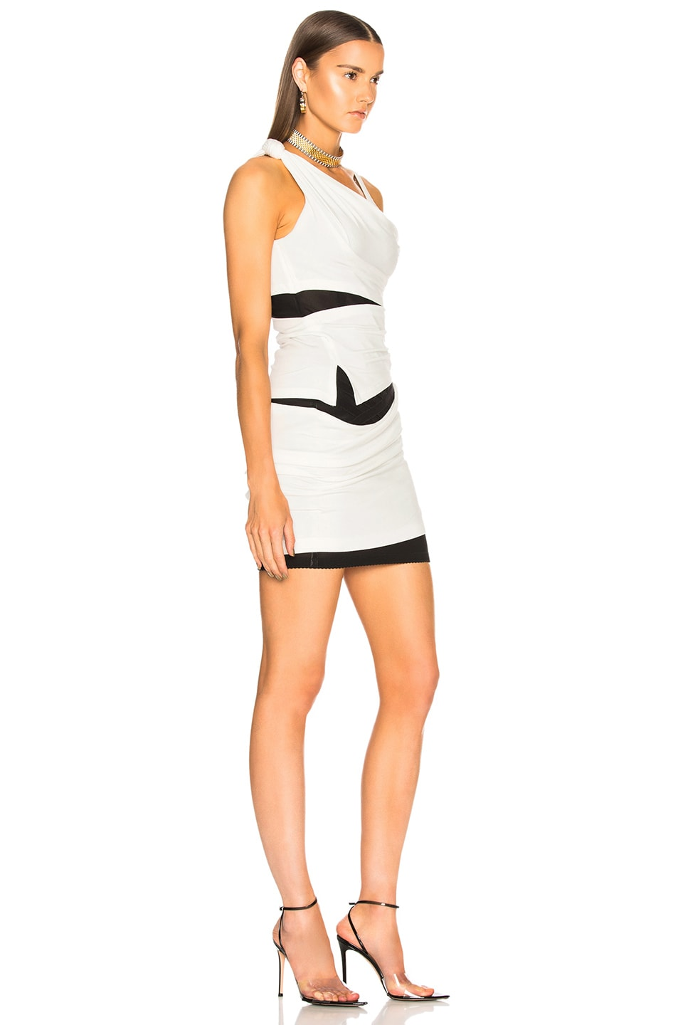 Image 2 of Alexander Wang Deconstructed Tank Dress in Ivory