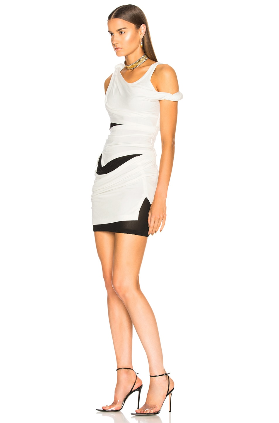Image 3 of Alexander Wang Deconstructed Tank Dress in Ivory
