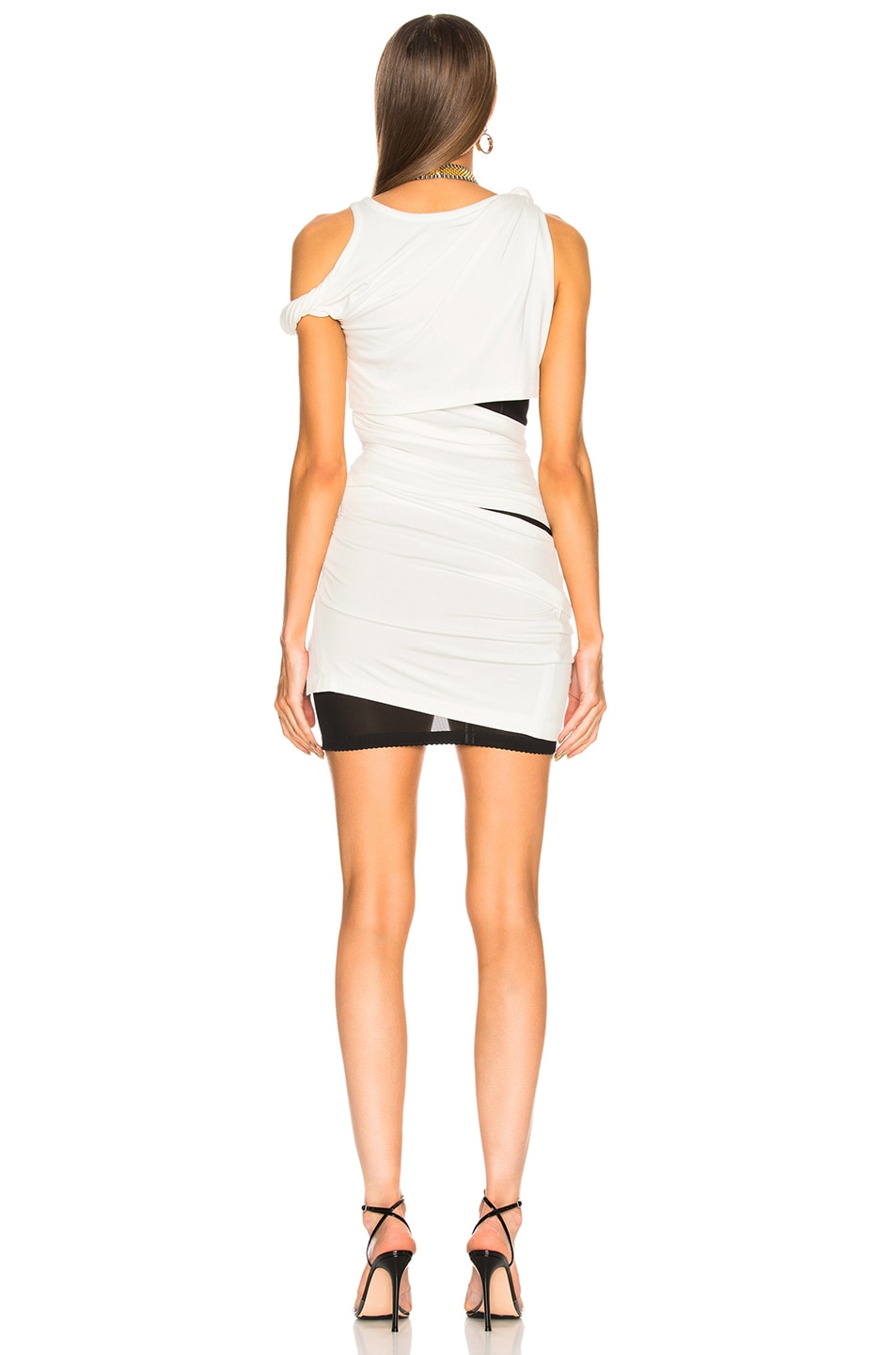 Image 4 of Alexander Wang Deconstructed Tank Dress in Ivory