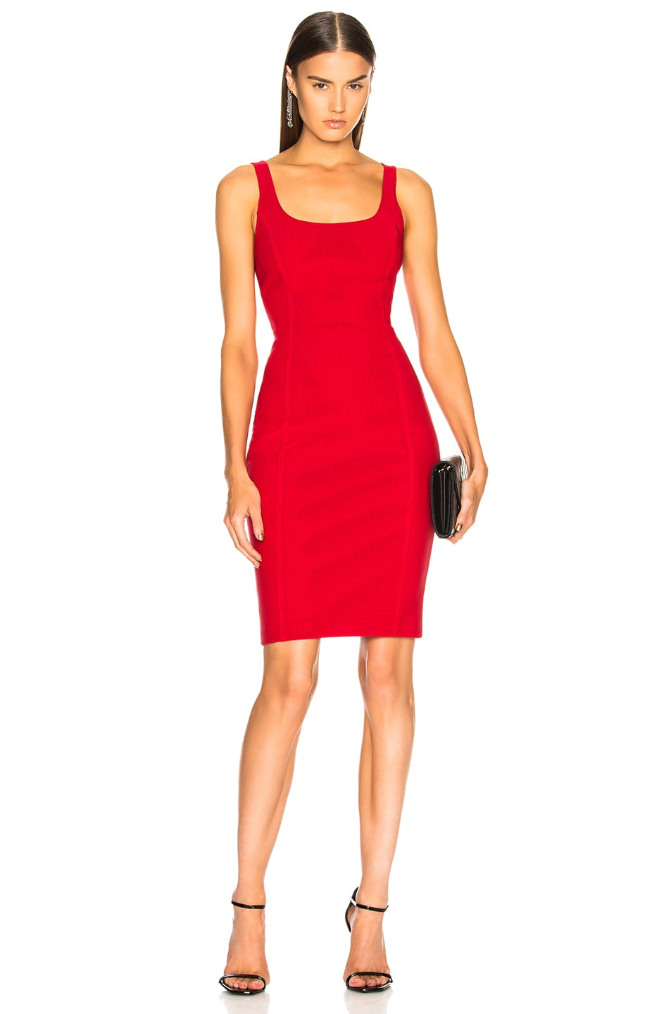 Alexander Wang Racerback Bodycon Dress in Red