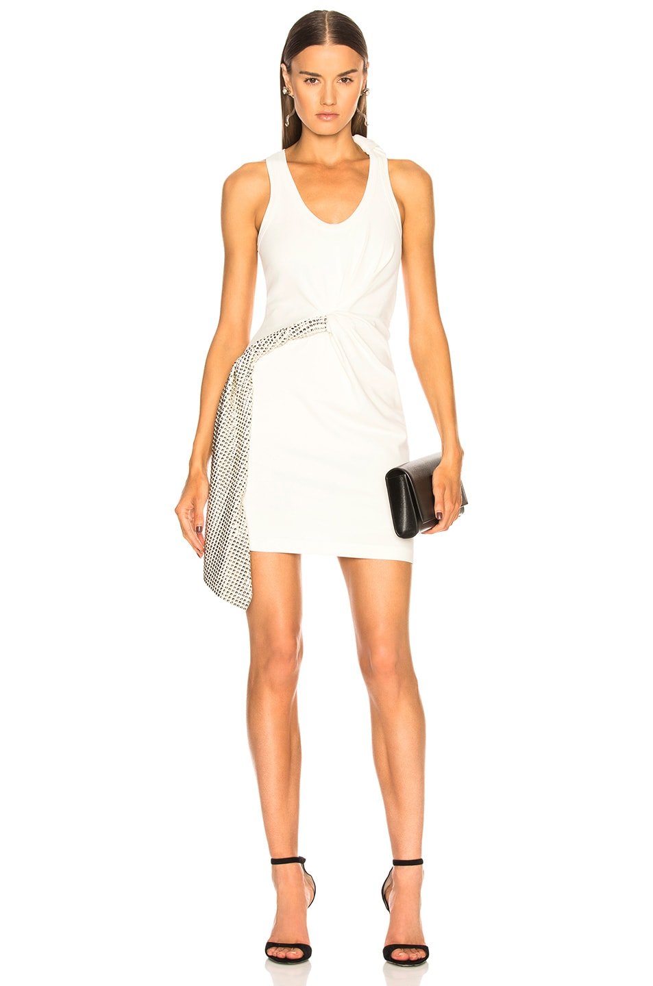 Alexander Wang Deconstructed Tank Dress in White
