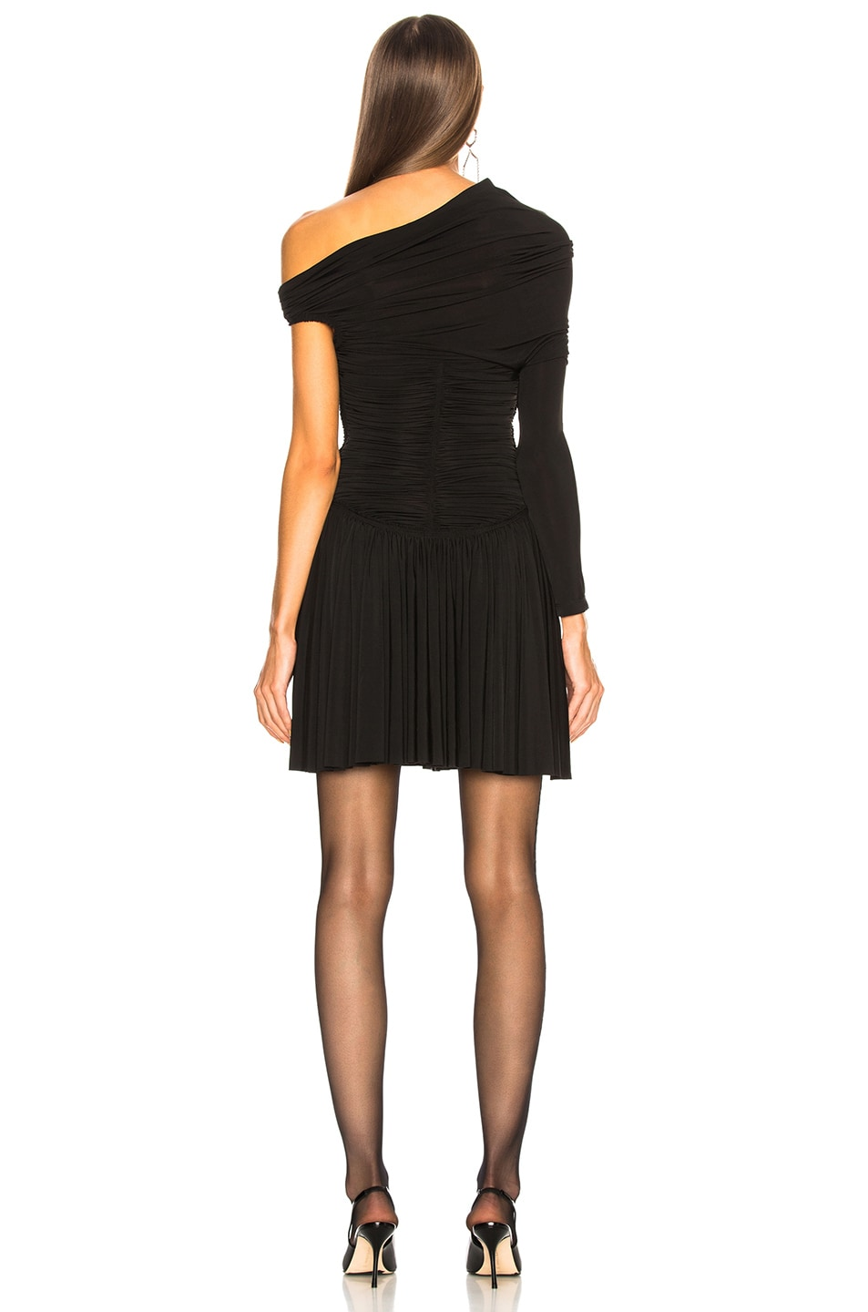 Image 4 of Alexander Wang Rouched Mini Dress in Black