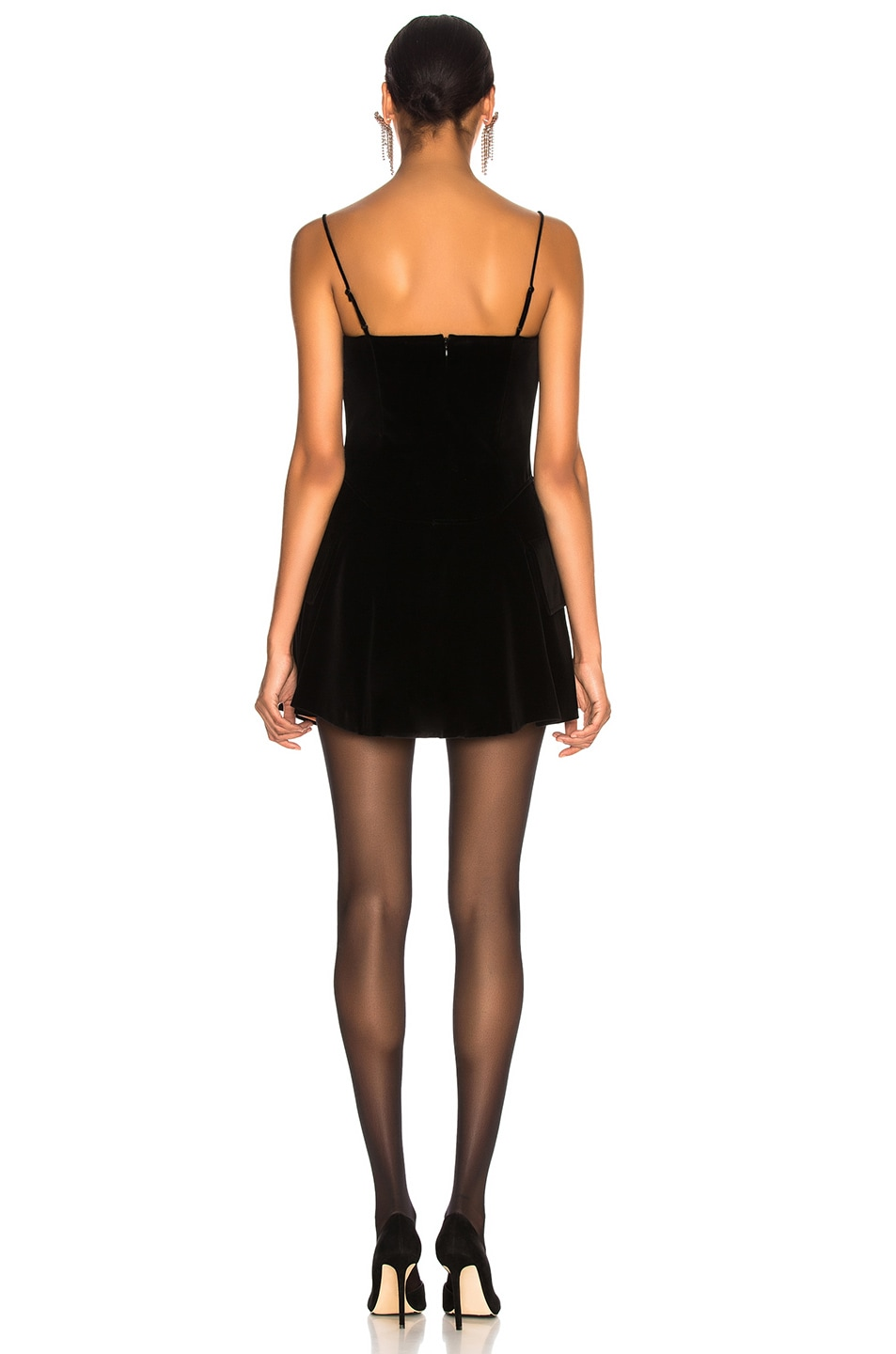 71ae3178be5 Image 3 of Alexander Wang Velvet Fit and Flare Mini Dress in Black