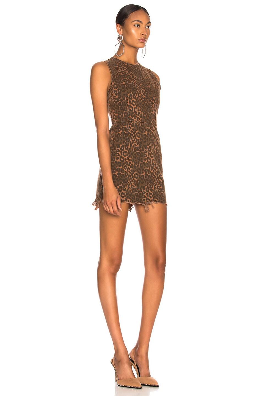 Image 3 of Alexander Wang Zip Dress in Tan Leopard Print