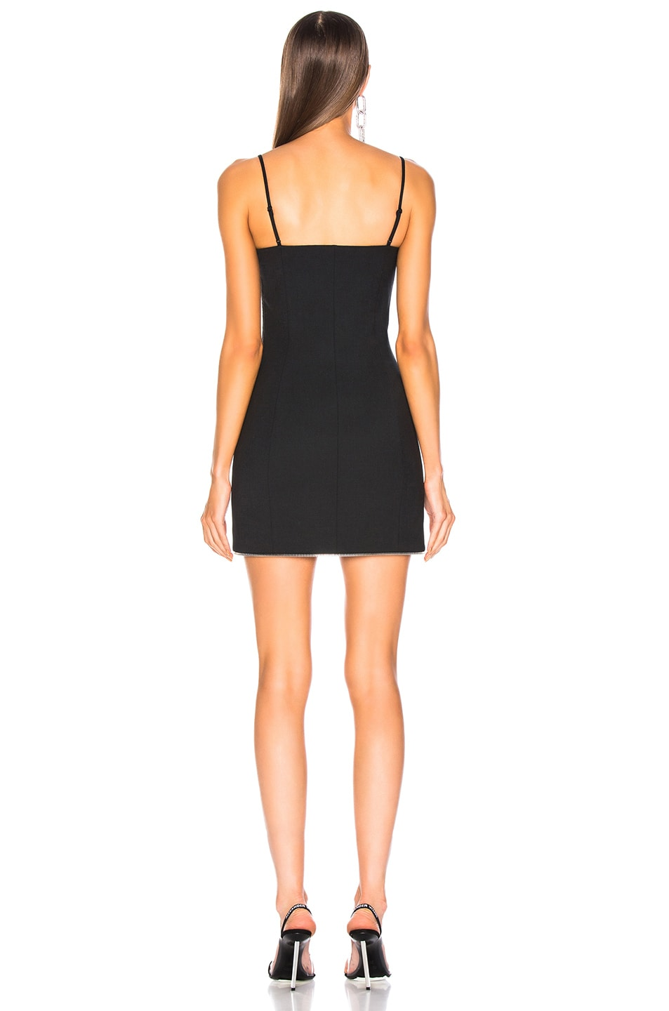 Image 4 of Alexander Wang Tailored Mini Cami Dress in Black