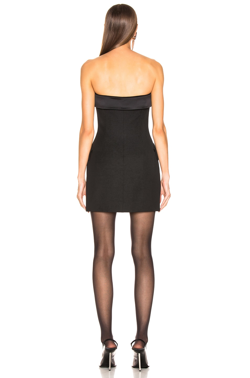 Image 3 of Alexander Wang Strapless Tuxedo Dress in Black