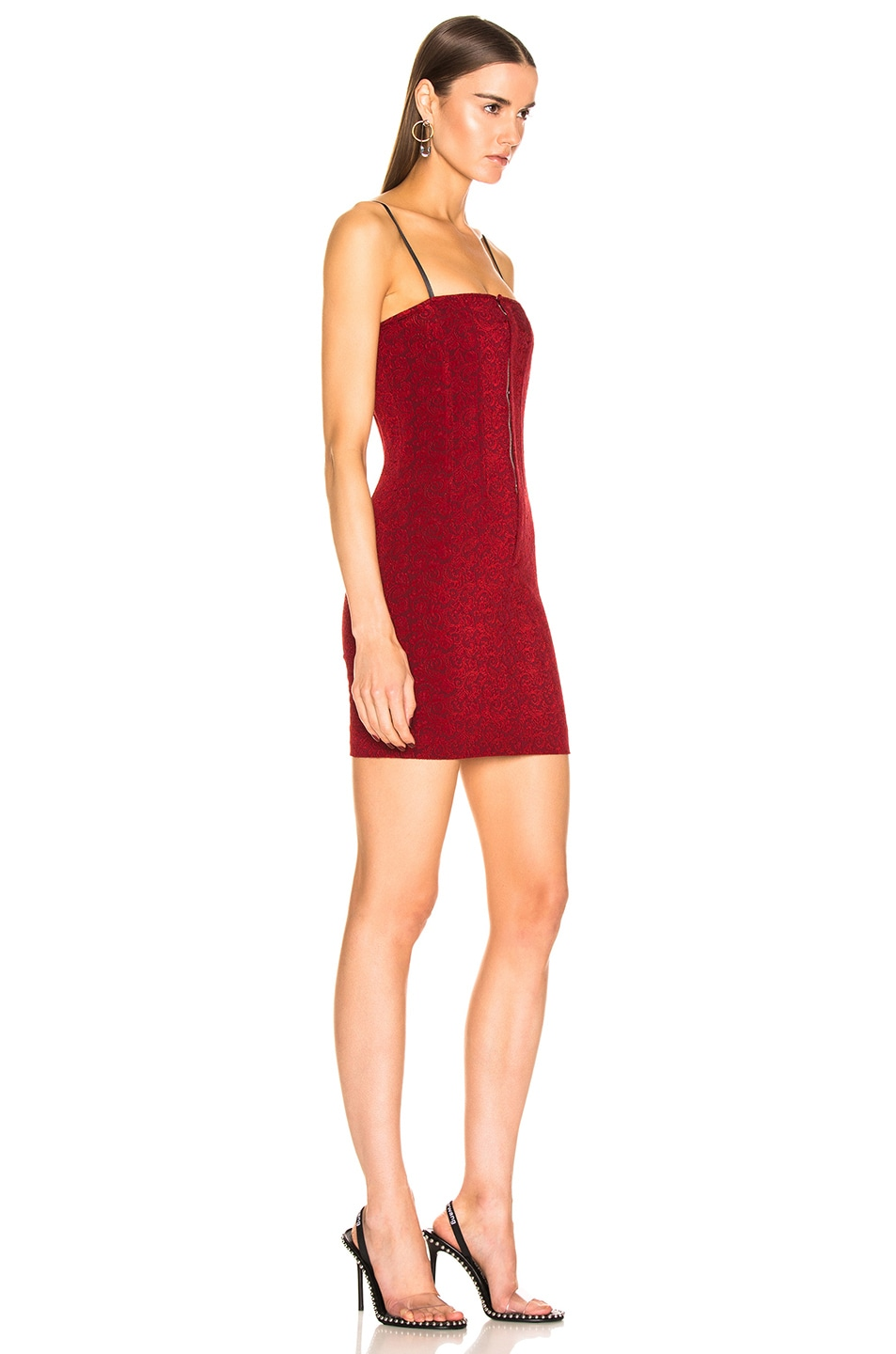 Image 2 of Alexander Wang Sleeveless Mini Dress in Red