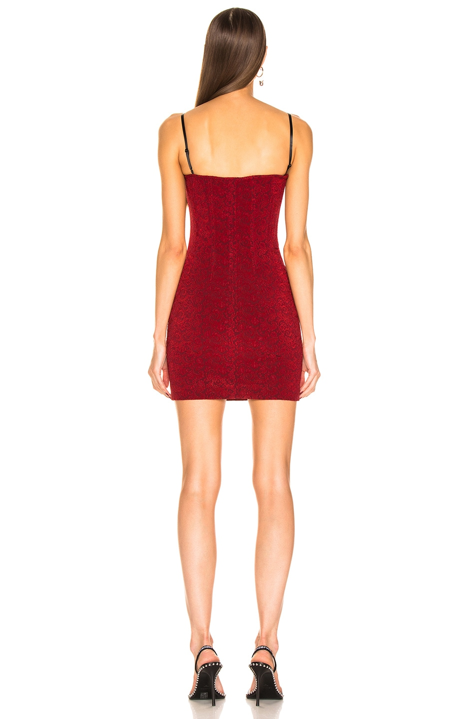 Image 3 of Alexander Wang Sleeveless Mini Dress in Red