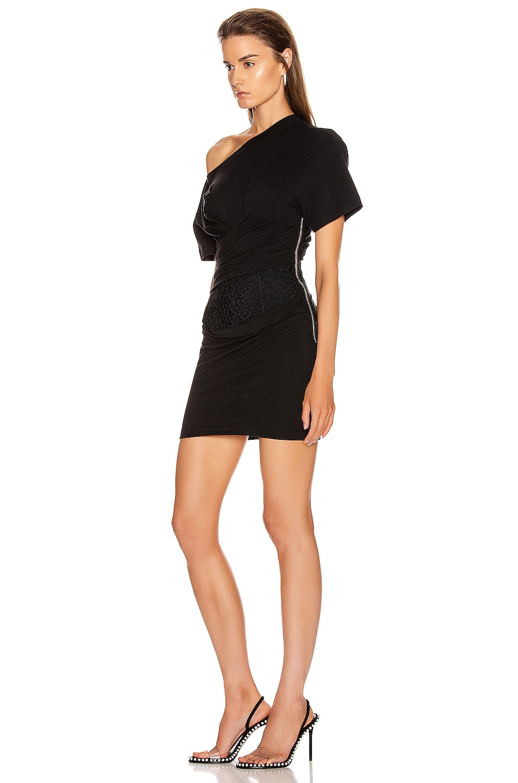 Image 3 of Alexander Wang Draped Bustier Dress in Black