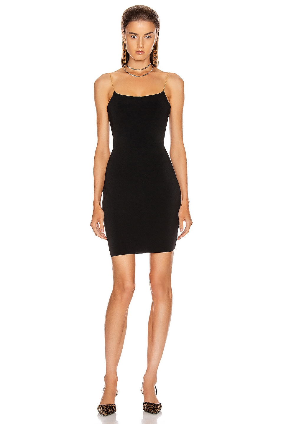 Image 1 of Alexander Wang Jersey Chain Straps Dress in Black