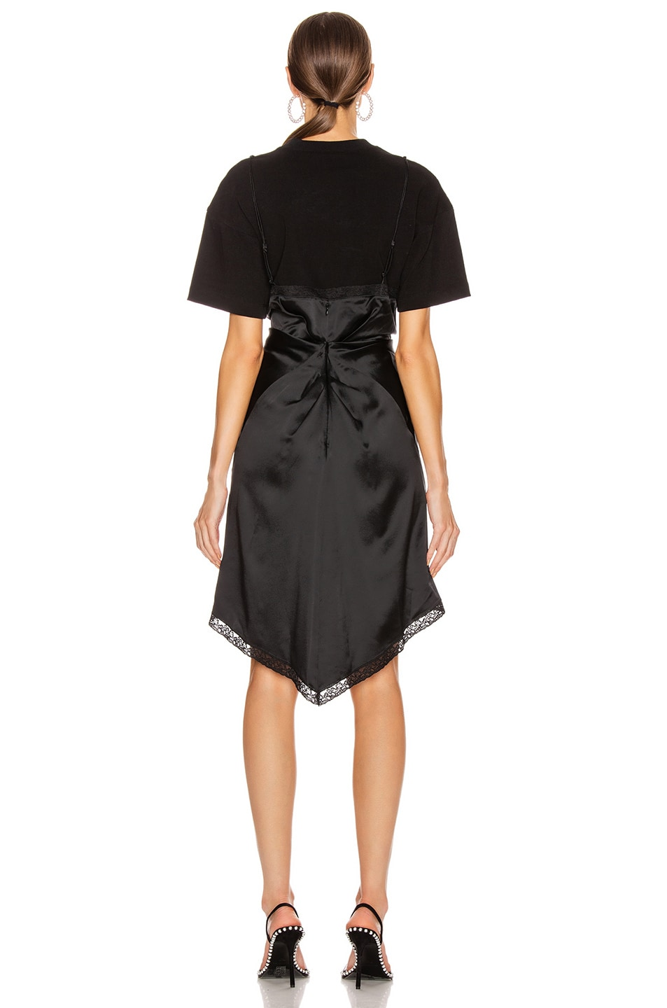 Image 4 of Alexander Wang Cinched T Shirt Slip Dress in Black