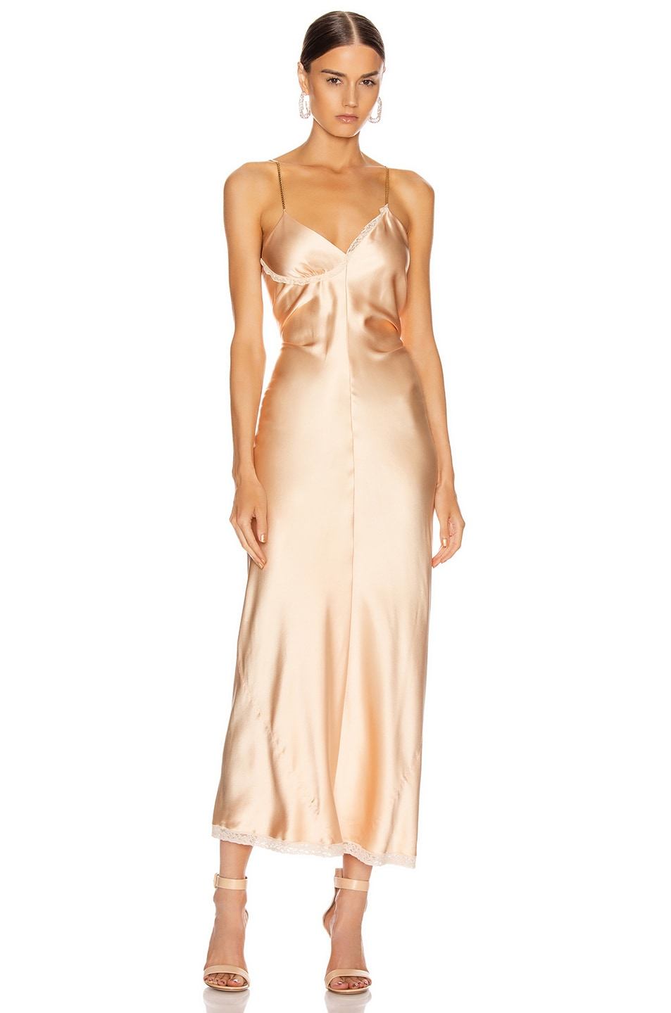 Image 1 of Alexander Wang Ruched Slip Dress in Peach