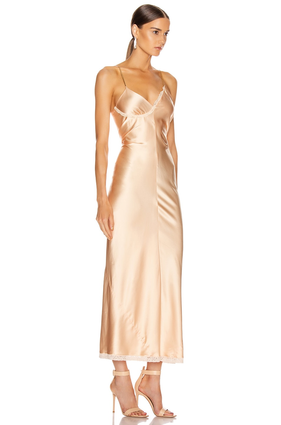 Image 2 of Alexander Wang Ruched Slip Dress in Peach