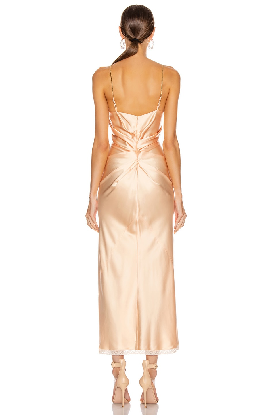 Image 4 of Alexander Wang Ruched Slip Dress in Peach