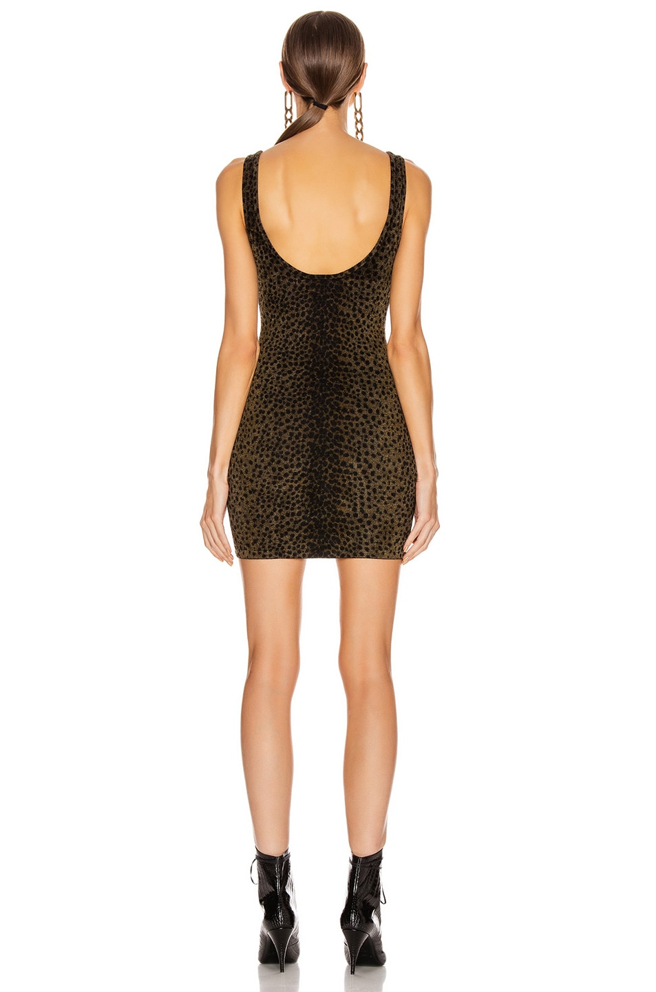 Image 3 of Alexander Wang Tank Mini Dress in Black & Gold